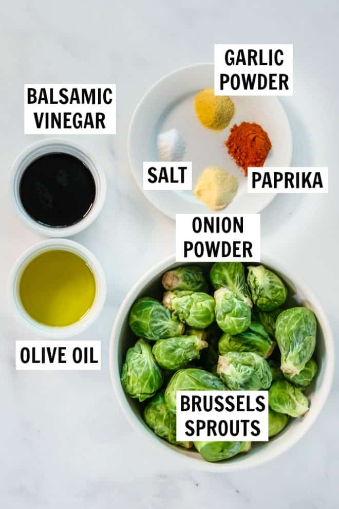 ingredients for roasted brussels sprouts