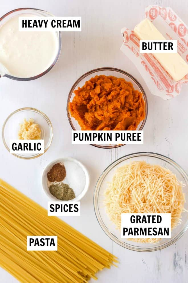 ingredients for pumpkin pasta sauce