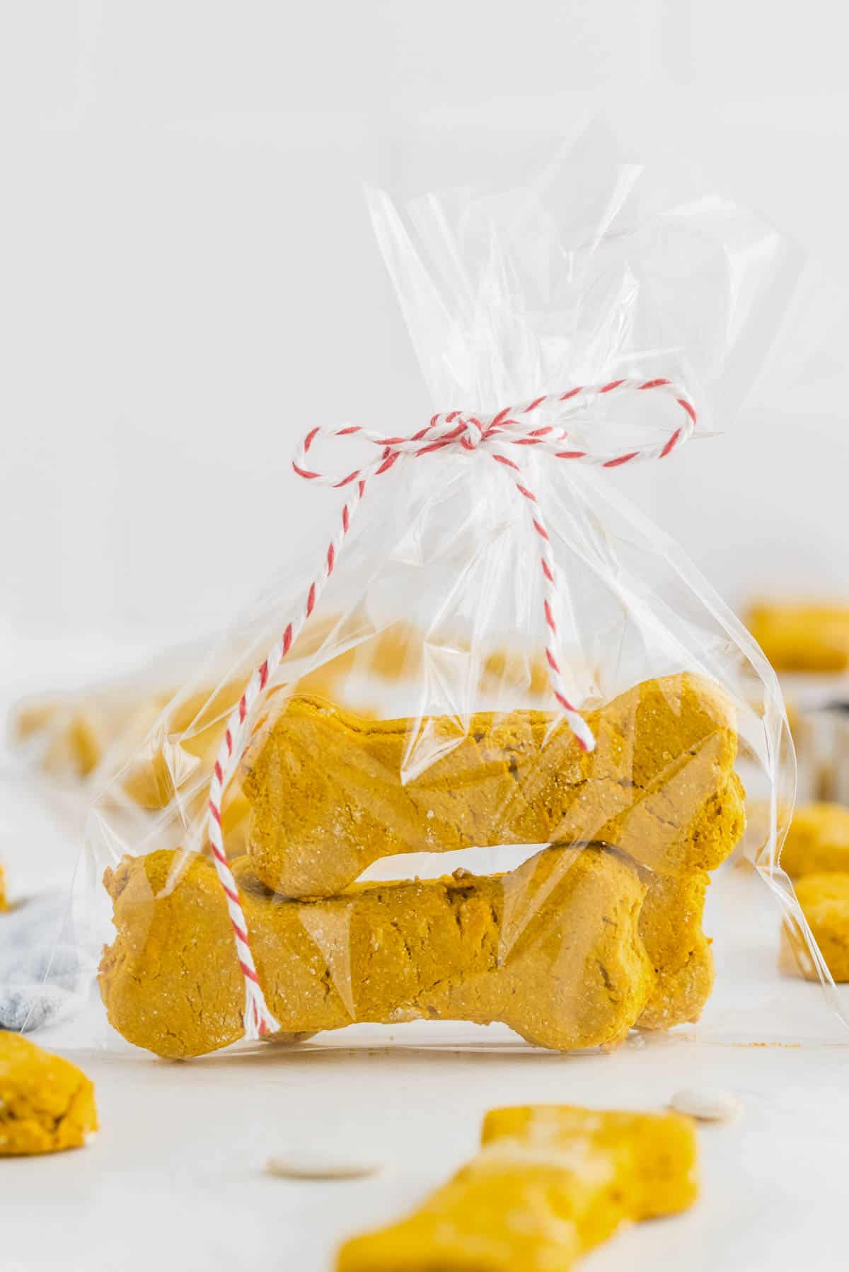 dog treats packaged up in a bag