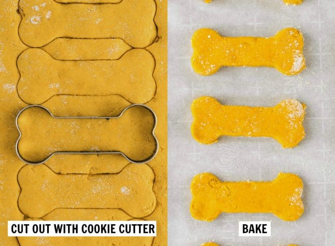 cutting out biscuits with cookie cut