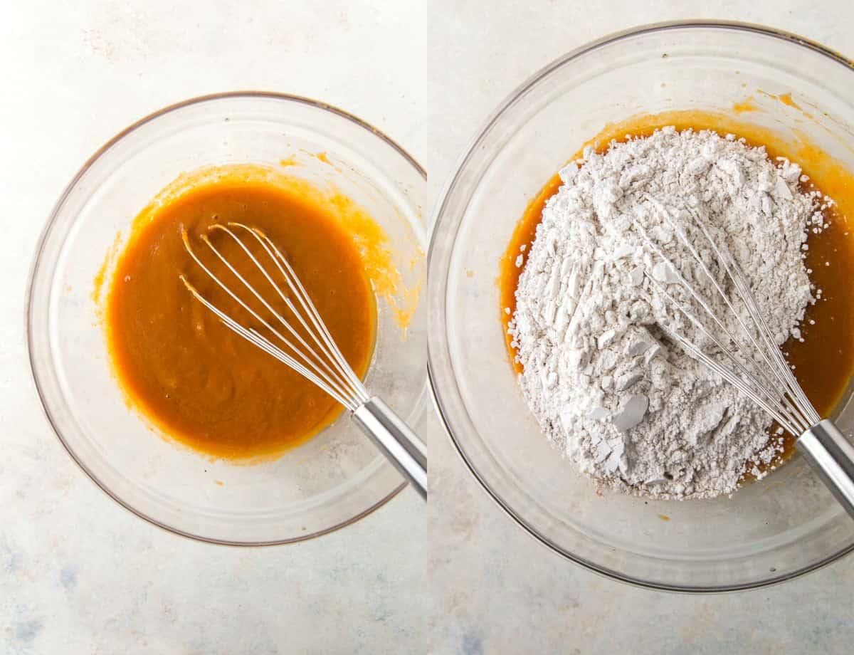 steps to make pumpkin muffins