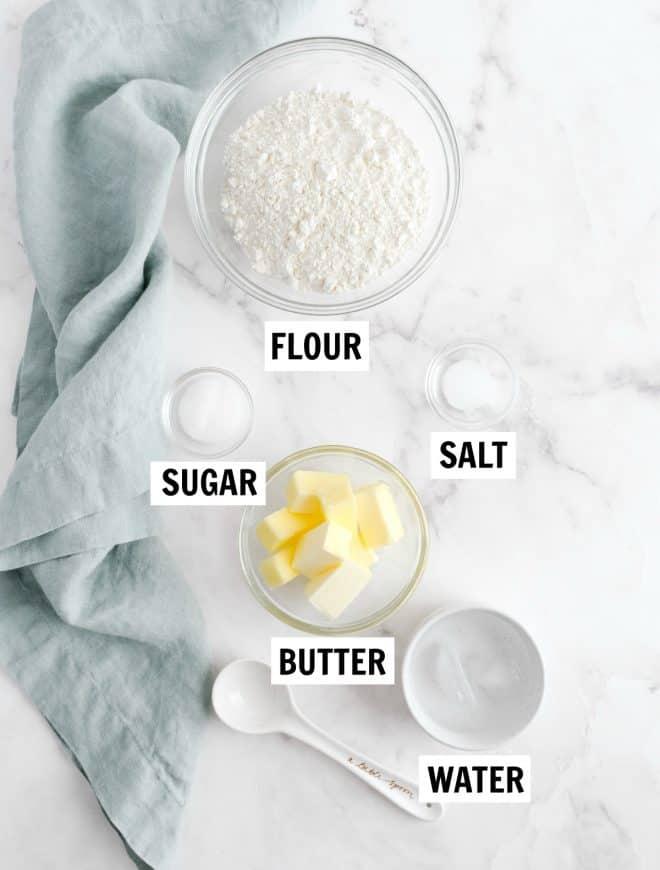 ingredients to make pumpkin pie crust