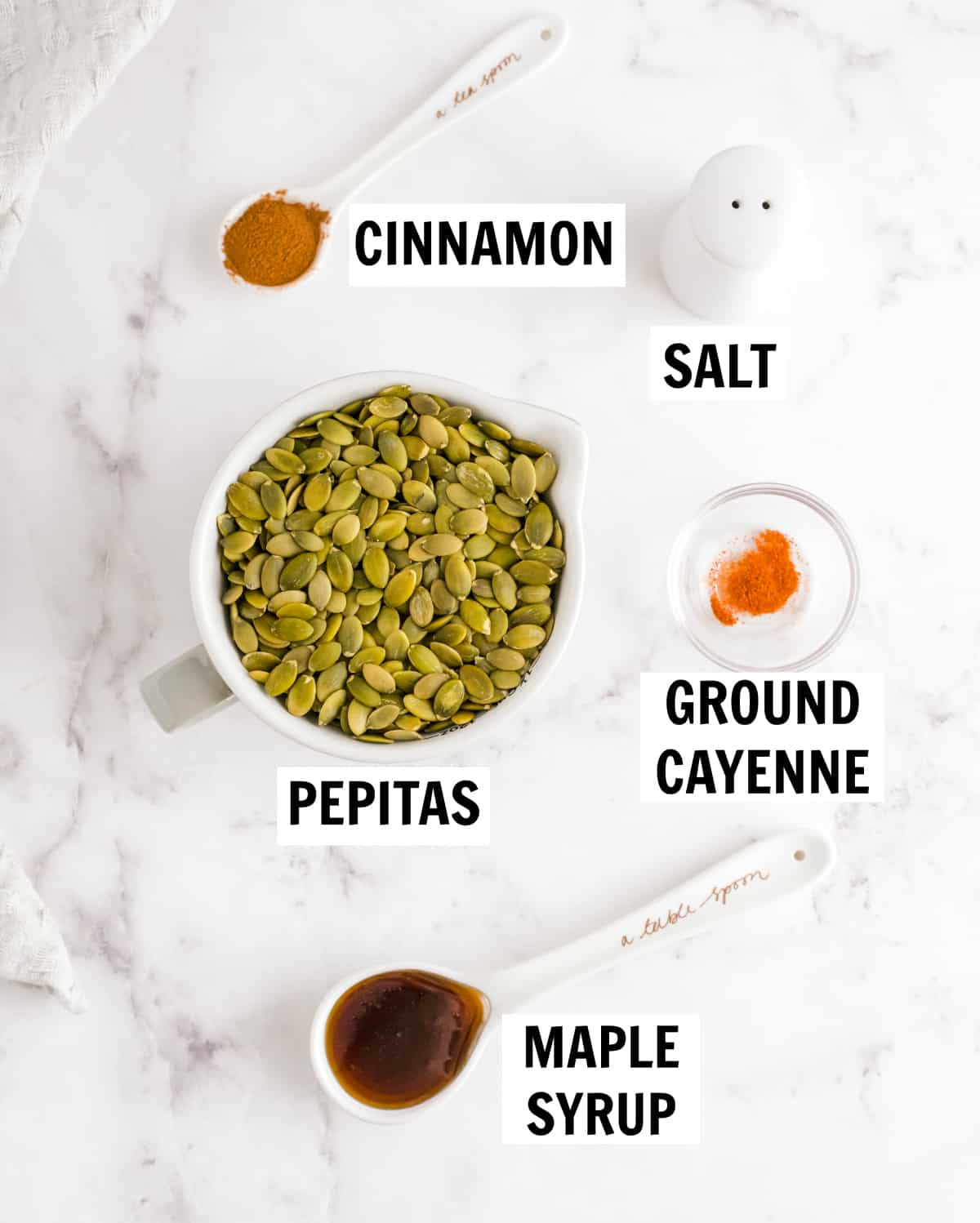 ingredients for spiced pepitas