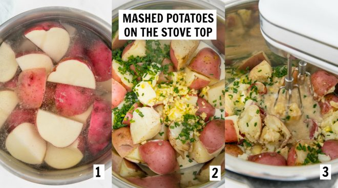 steps to make mashed potatoes on the stove top