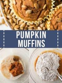 close up photo of vegan pumpkin muffin on a plate