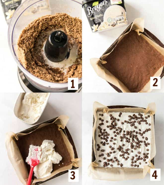 steps to make chocolate chip cookie ice cream delight cake