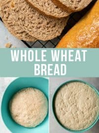four slices of whole wheat bread