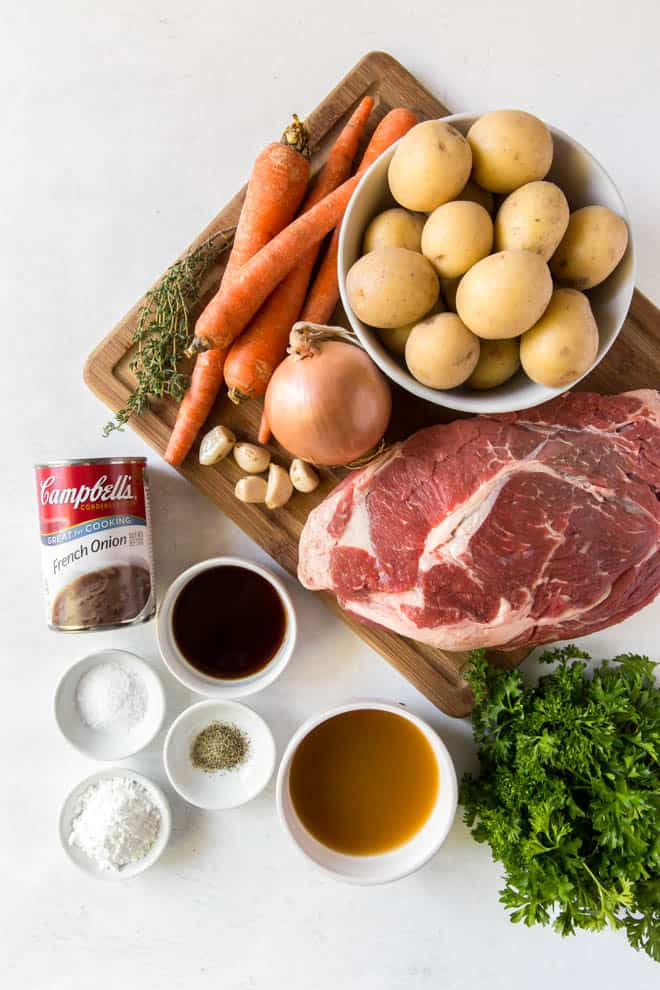 ingredients for slow cooker pot roast