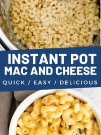 cooked mac and cheese in the instant pot