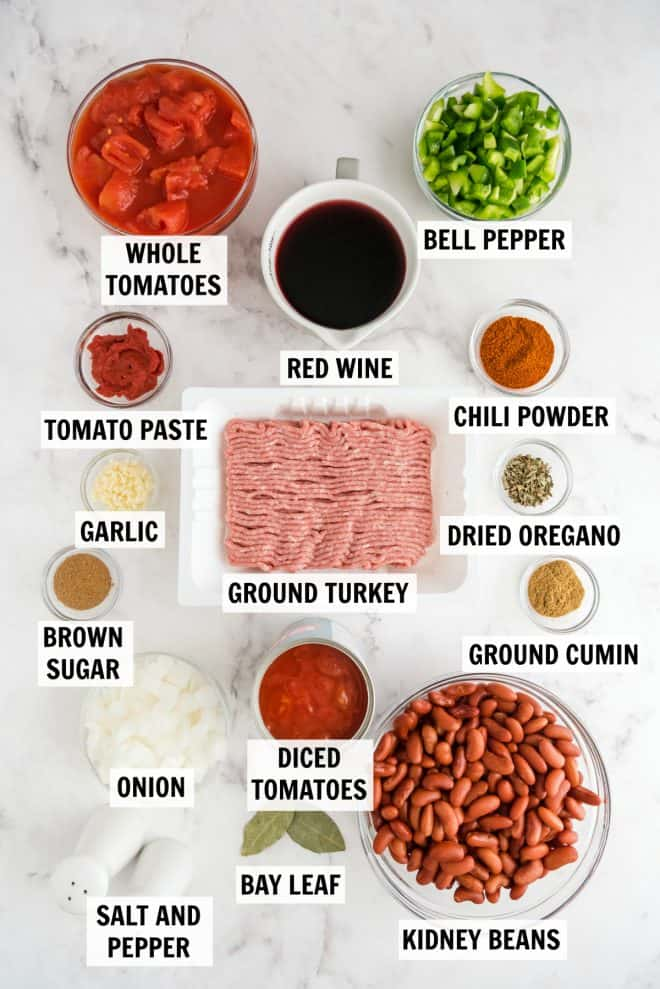 ingredients for turkey chili