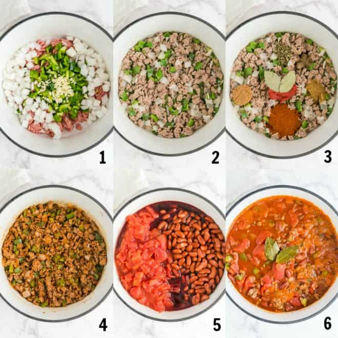 steps to make turkey chili