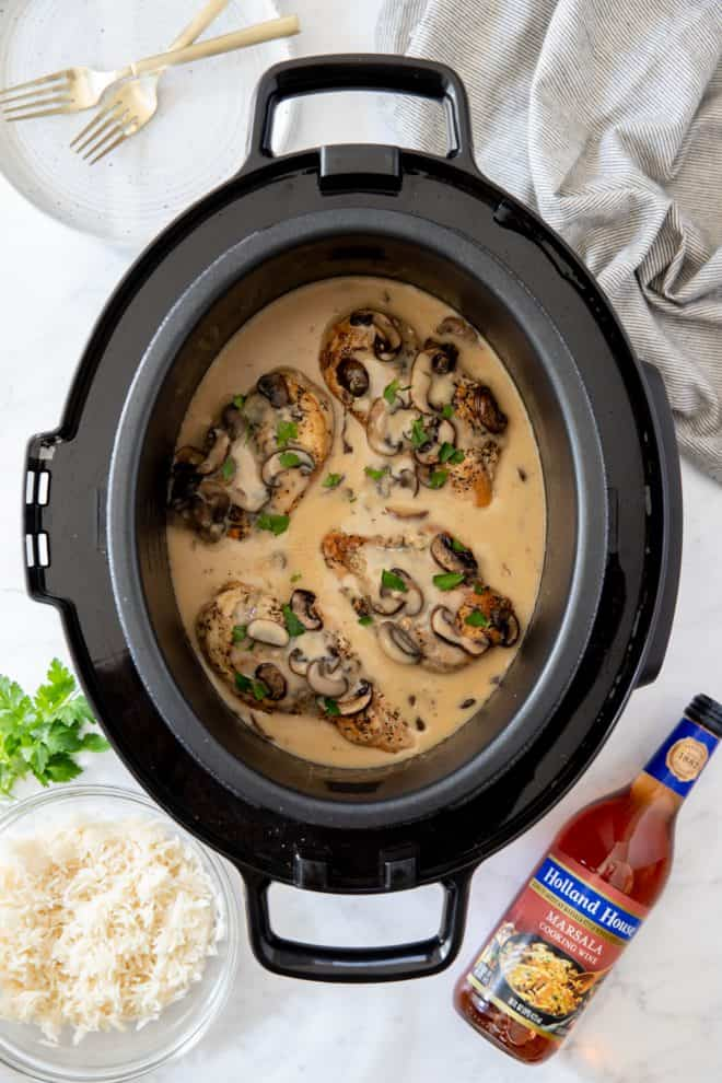 chicken marsala in a slow cooker