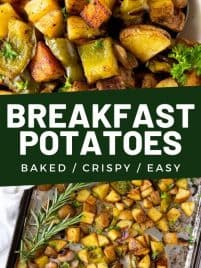 baked breakfast potatoes in a bowl