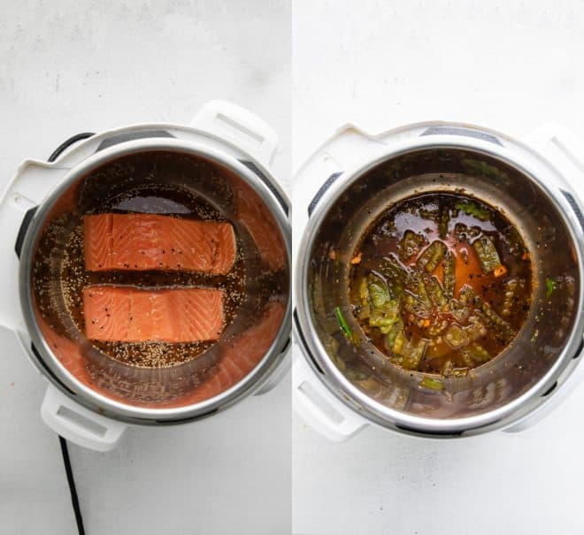 cooking sesame salmon in the instant pot