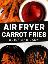 carrot fries sitting on a plate