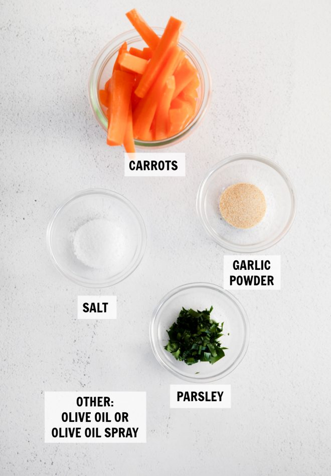 ingredients for air fryer carrots
