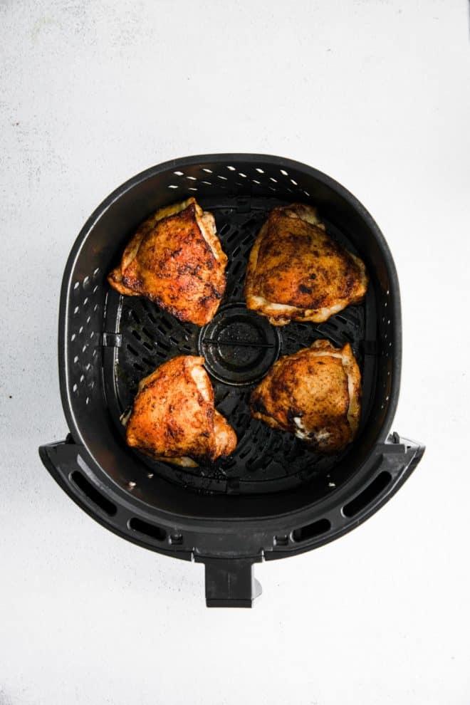 cilantro lime chicken in an air fryer