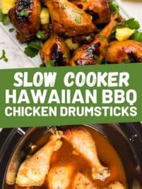 bbq chicken drumsticks in a slow cooker