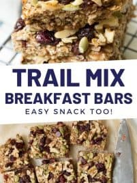 granola breakfast bars stacked on top of each other