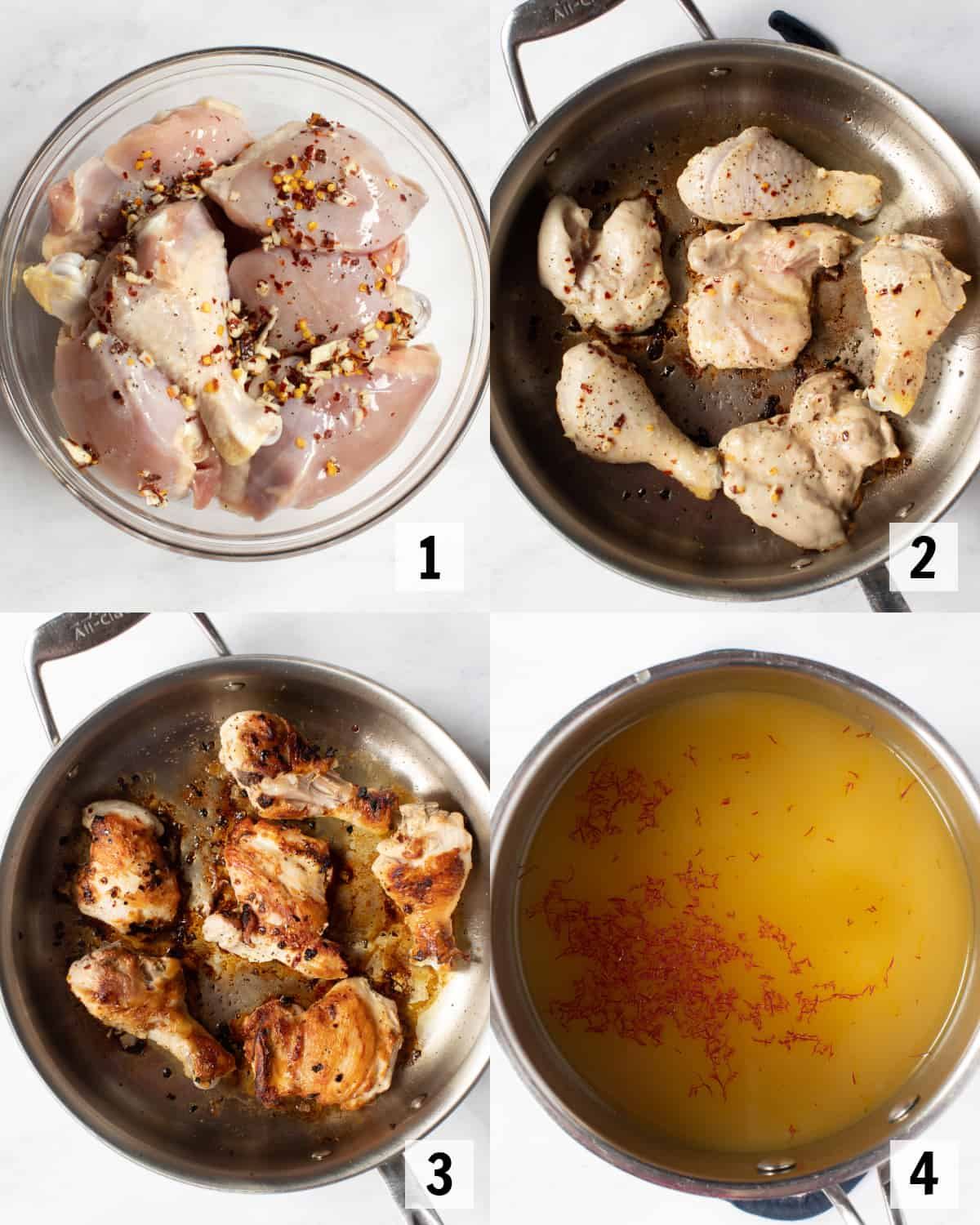 cooking the chicken in a skillet