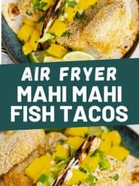 air fryer fish tacos on a plate