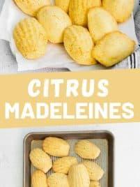 baked lemon madeleines