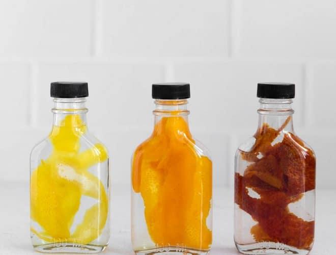 three bottles of citrus extract