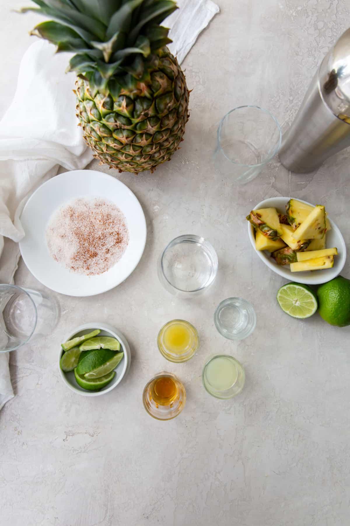 mezcalita ingredients on a table