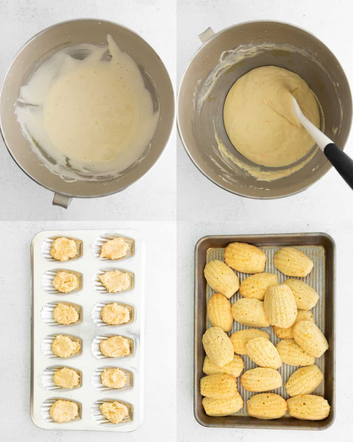 mixing together ingredients for cookies in metal bowl
