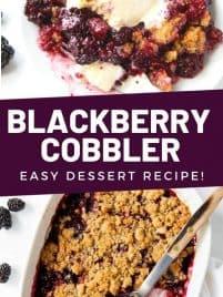 blackberry cobbler on plate