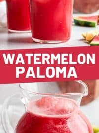 two glasses of watermelon paloma
