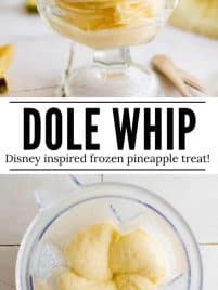 pineapple dole whip in a bowl