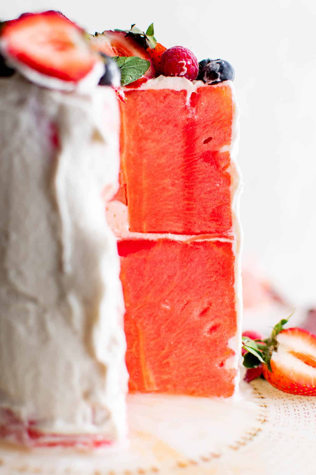 two layer watermelon cake
