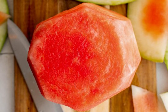 watermelon with rind cut off