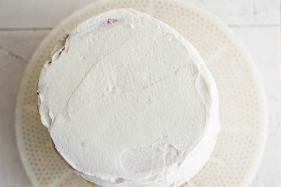 watermelon covered in cream