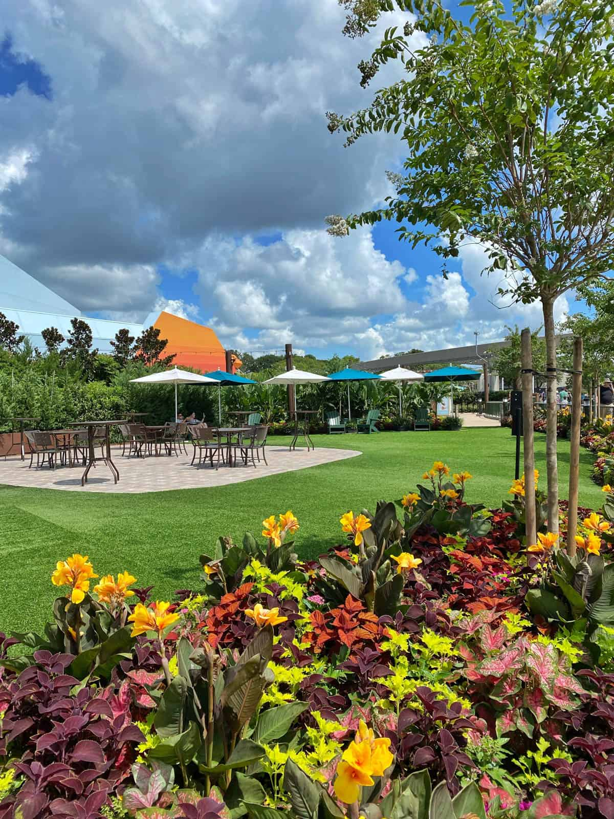 photo of the seating area at epcot food and wine