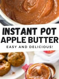 cooked apple butter in an instant pot