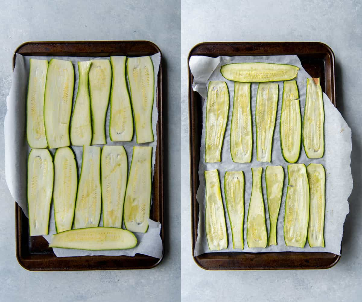 before and after baking lasagna noodles