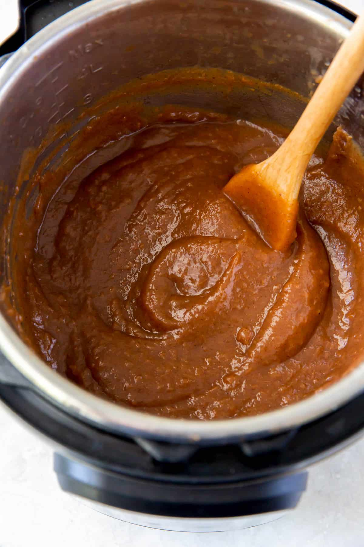 apple butter cooked in the instant pot