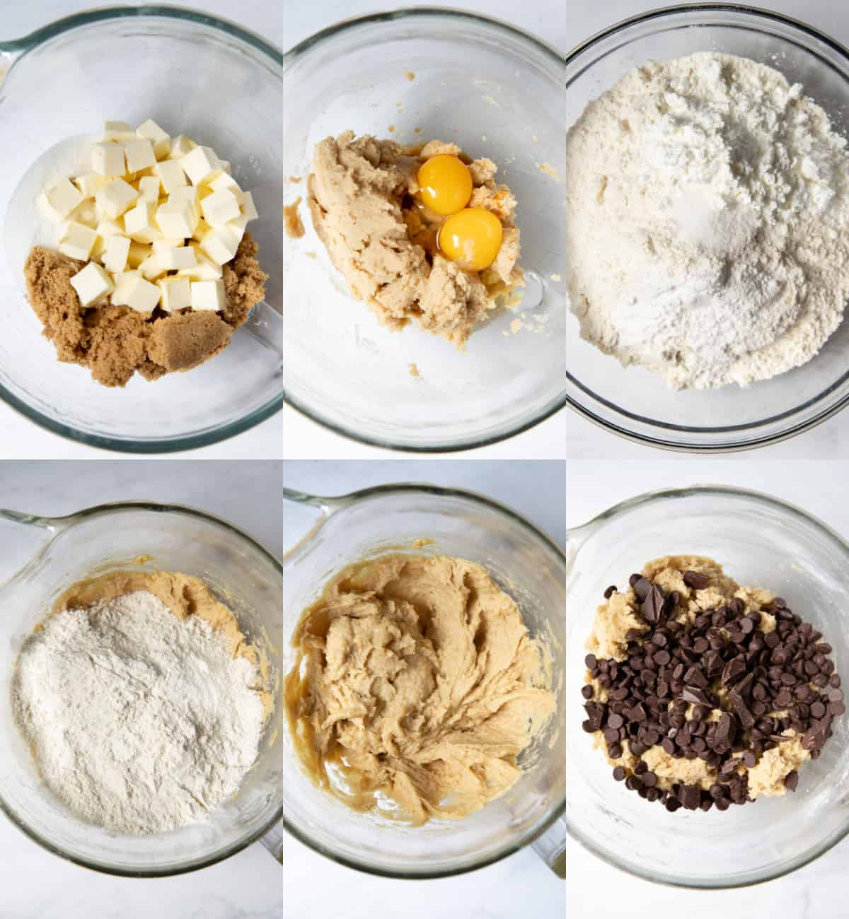 mixing together the ingredients for the cookies in a bowl